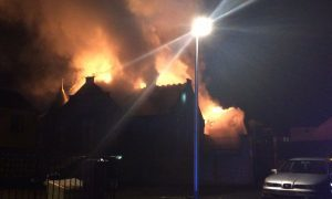 UPDATE: 50 firefighters tackle blaze at former Forfar primary school