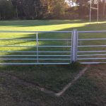 Last line of de-fence: Gate on rugby pitch no barrier to play