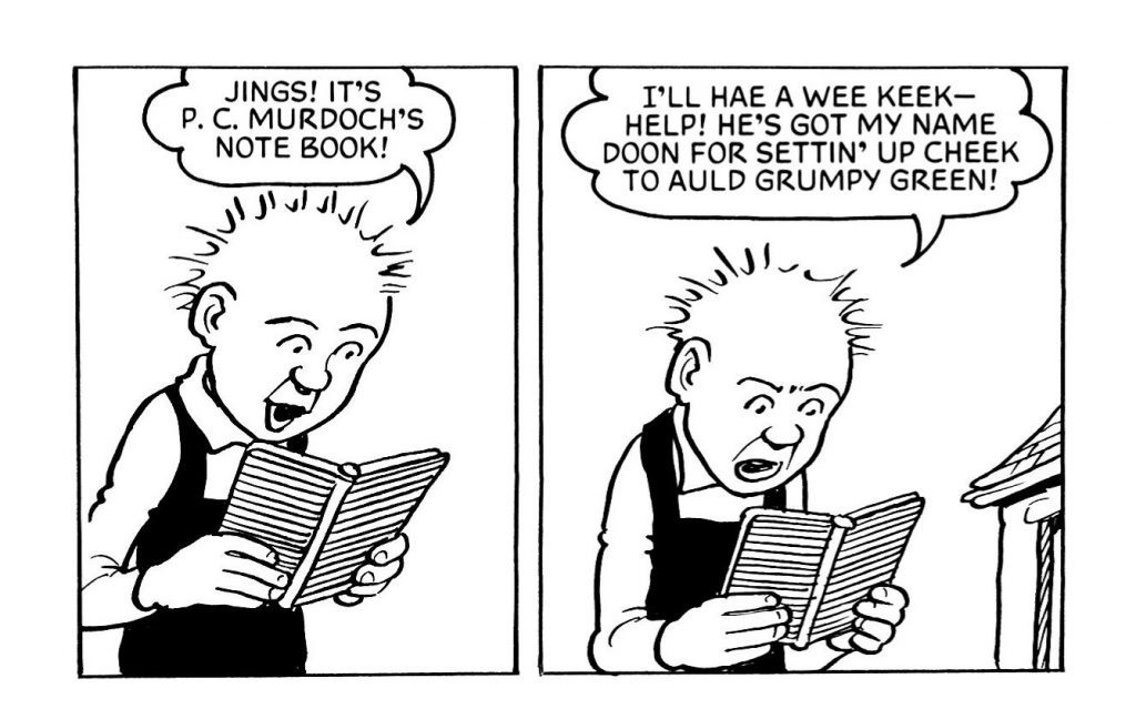 Oor Wullie helps translate Scottish slang.
