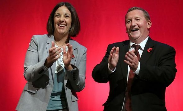 Scottish Labour leader Kezia Dugdale and deputy Alex Rowley