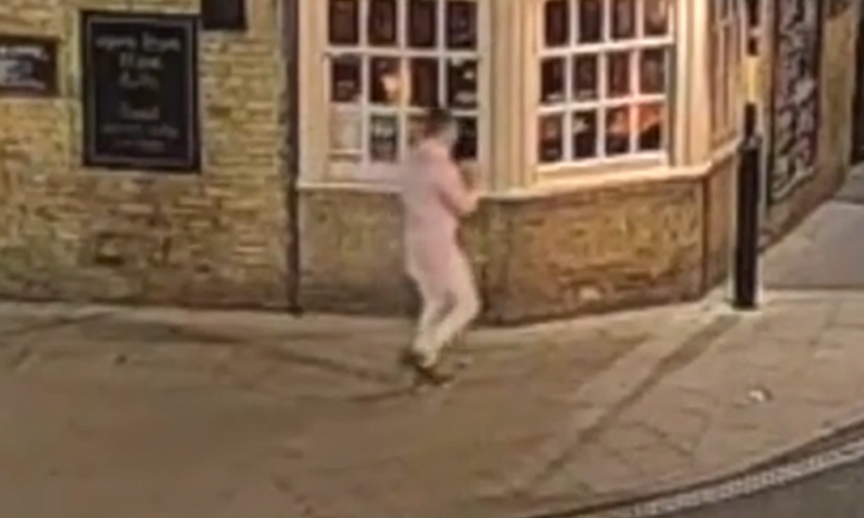 A CCTV image of  Corrie McKeague walking along  Brentgovel Street.
