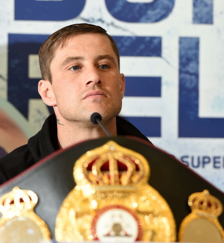 Ricky Burns at Wednesday's press conference.
