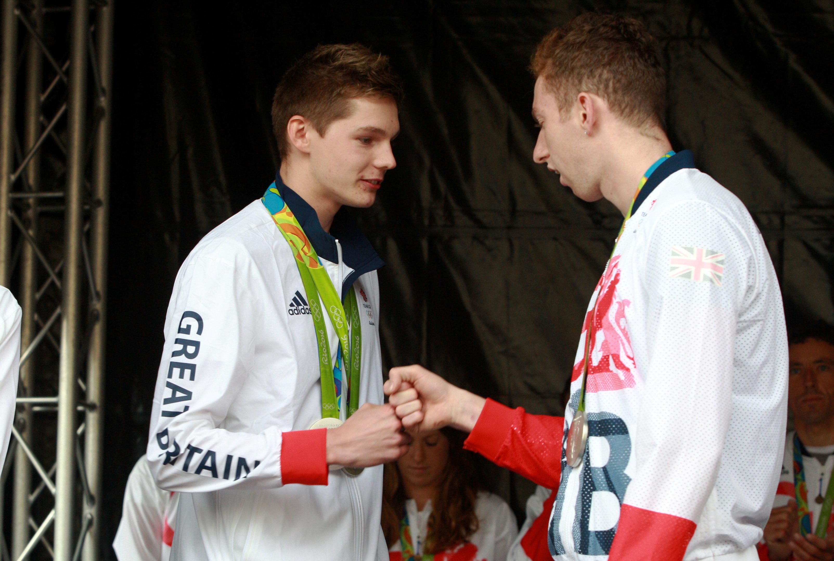 Duncan Scott (left) and Dan Wallace.