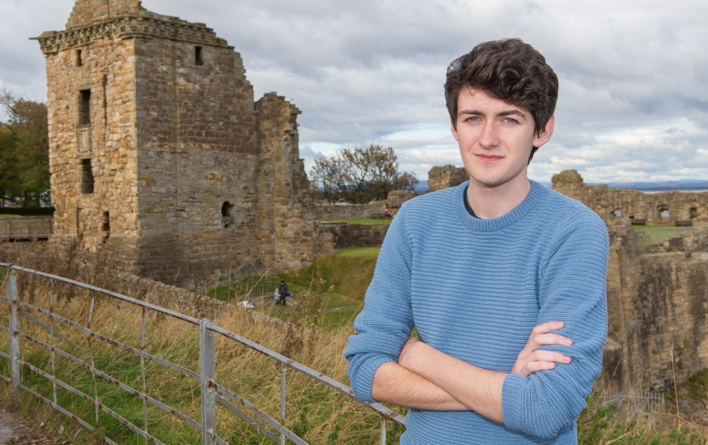 St Andres University student Ewan McCall, 18, is amongst those who have resigned from the Scottish Youth Parliament
