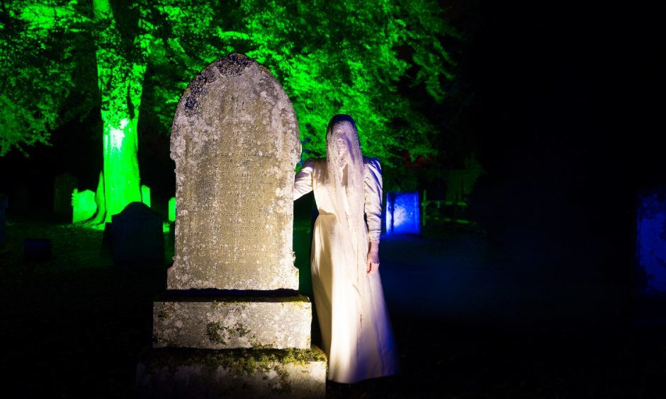 A ghostly woman roams Scone Palace's graveyard.