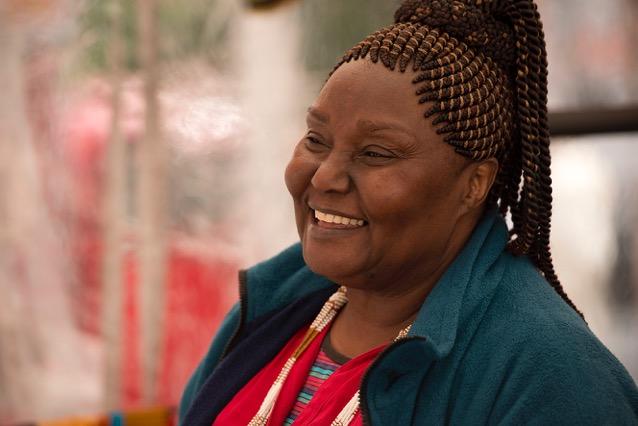 Dorothy Tarro is one of the international exhibitors, bringing creations from Kenya.
