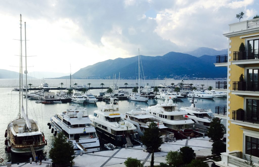 Photo of a view from Regent Porto Montenegro balcony.