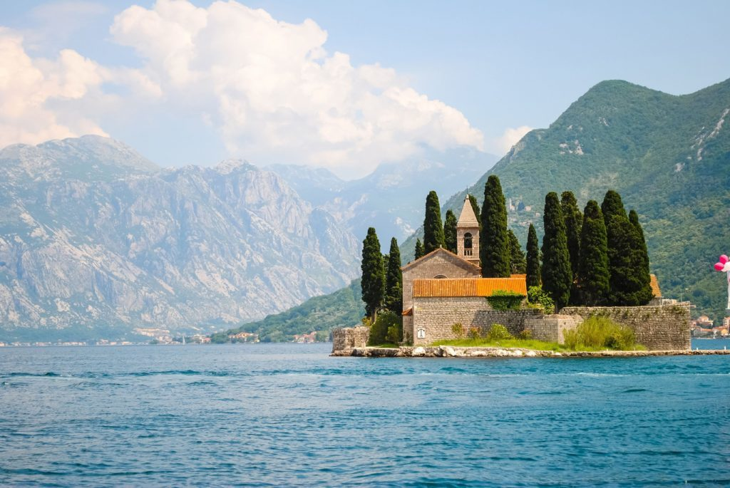 Saint George in the Bay of Kotor near Perast, Montenegro.