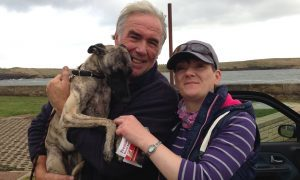 Julia Brown with Forbes and Zed following the rescue