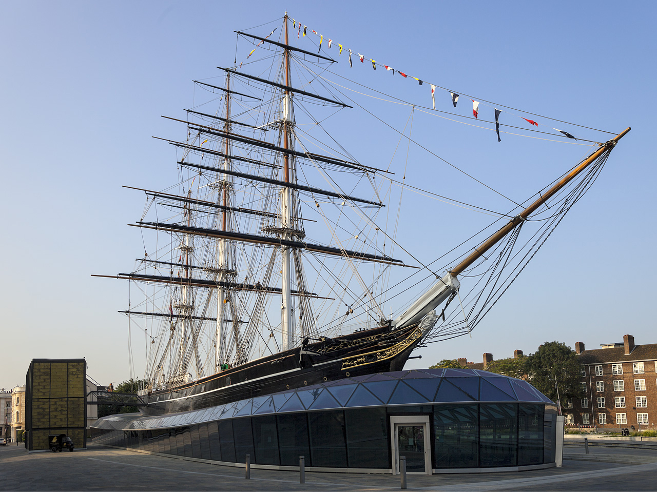 The Cutty Sark in all its glory.