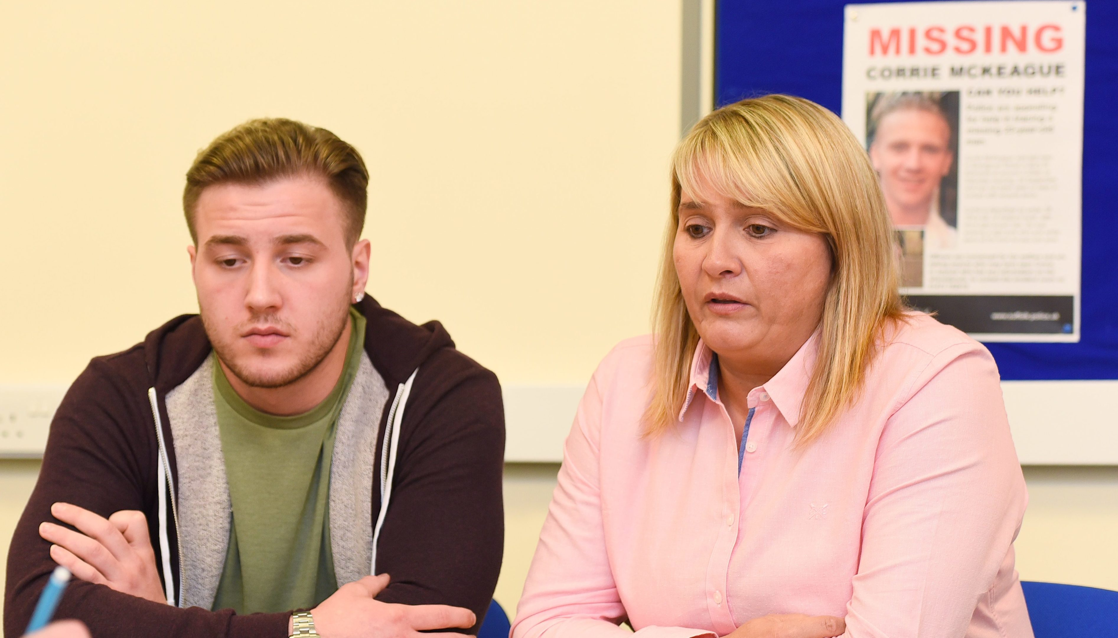 Nicola Urquhart pictured here with Corrie's brother Darroch McKeague.