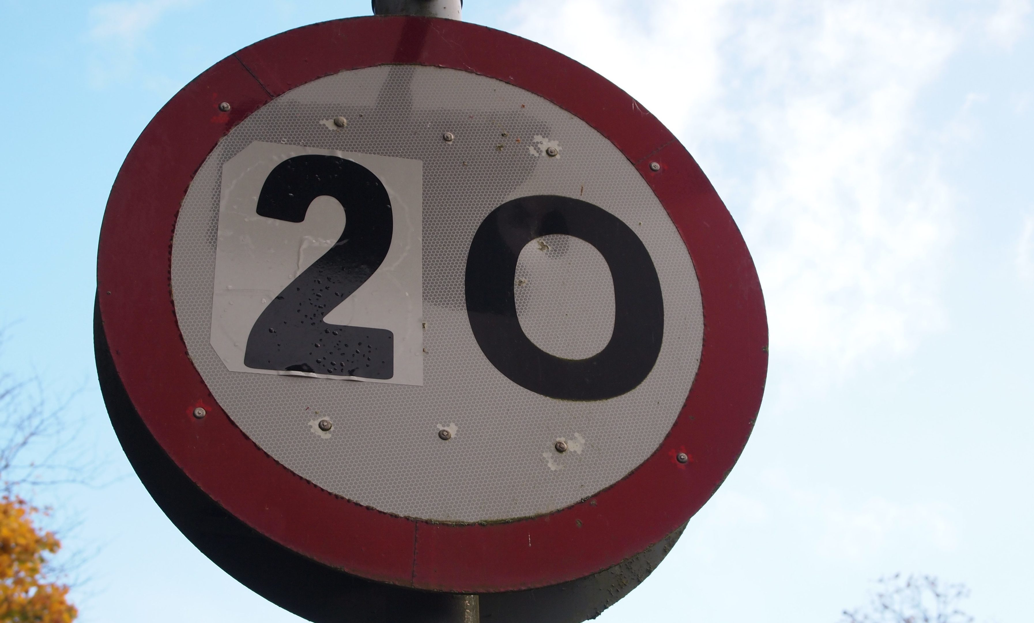 Police Scotland had to become involved after a 20mph protest at Coupar Angus saw signs changed by campaigners.