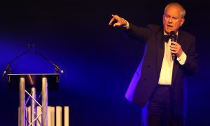 Gyles Brandreth had the crowd in hysterics during his second visit to the Courier Business Awards.