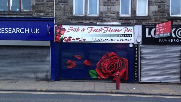 The first shop to get an artistic makeover