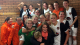 Dundee United women celebrate their league win.
