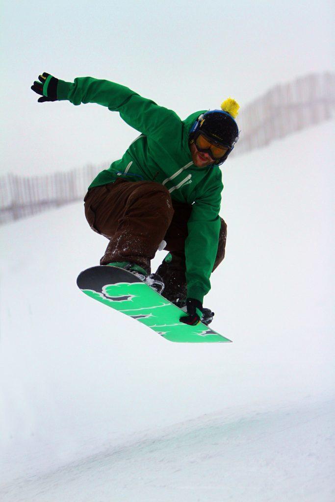 Glenshee, 2014. Thomas Arden from Aberdeen enjoys the fresh snow.