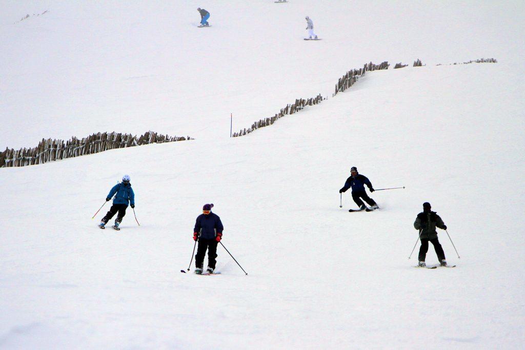 Glenshee, 2014. Skiers enjoy the fresh snow.
