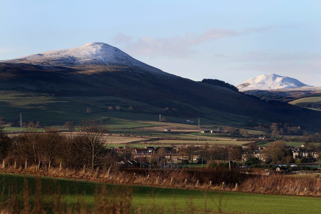 A dusting of snow on the East and West Lomonds as winter arrived in Fife and the rest of Courier country in 2014.