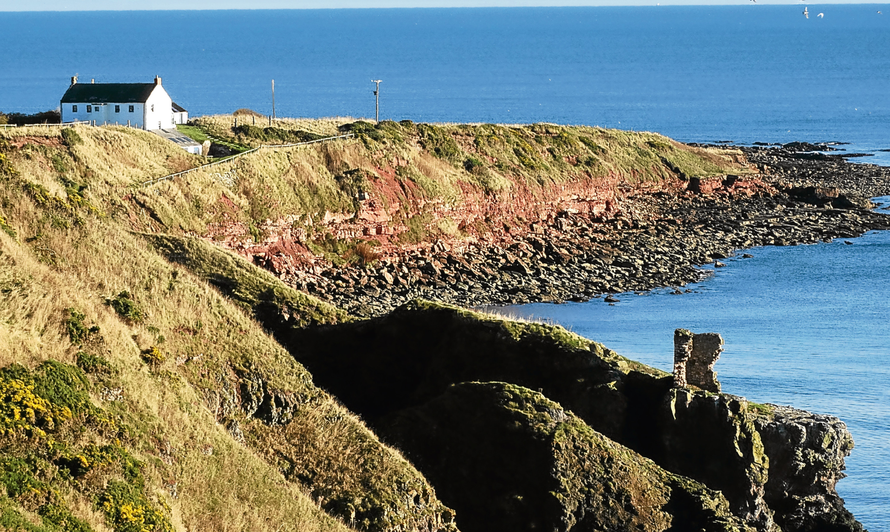 All that remains of the Kaim of Mathers, or the Cannibal Laird's Castle, whose history contains a gruesome story of murder.
