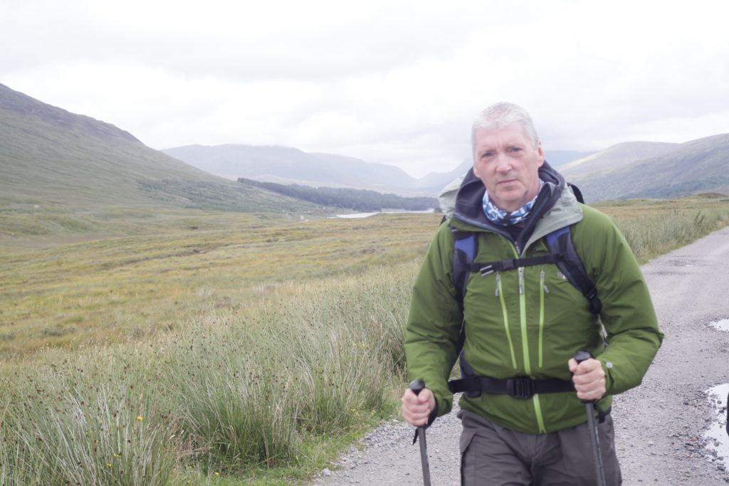 Alan out walking in the Cairngorms.