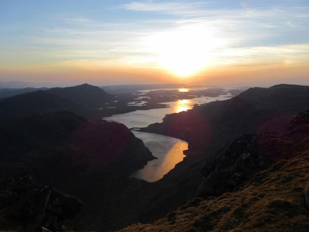 Sunrise from A' Mhaighdean in Fisherfield.