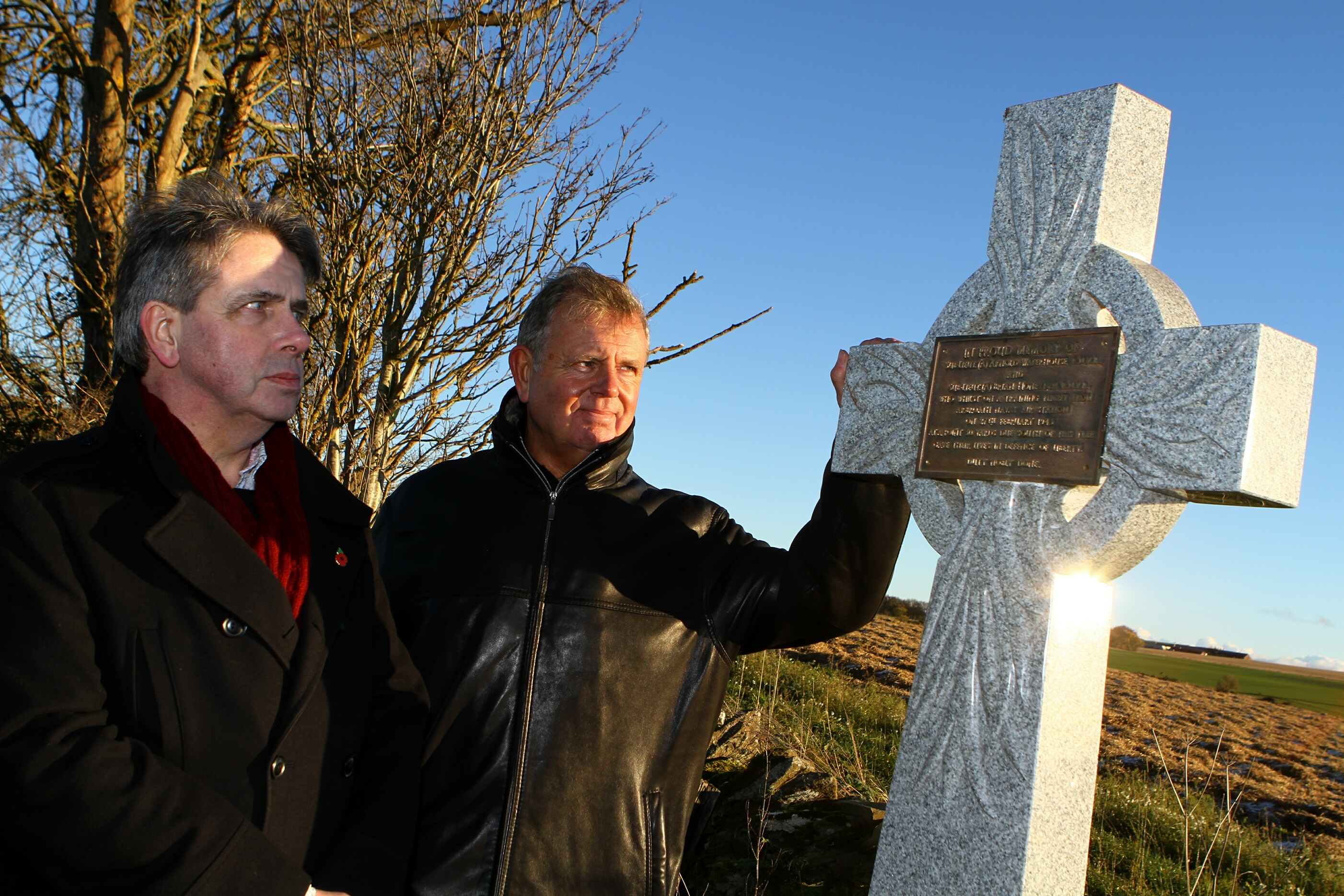 Keith and Andrew Waterhouse at the gask Farm ceremony