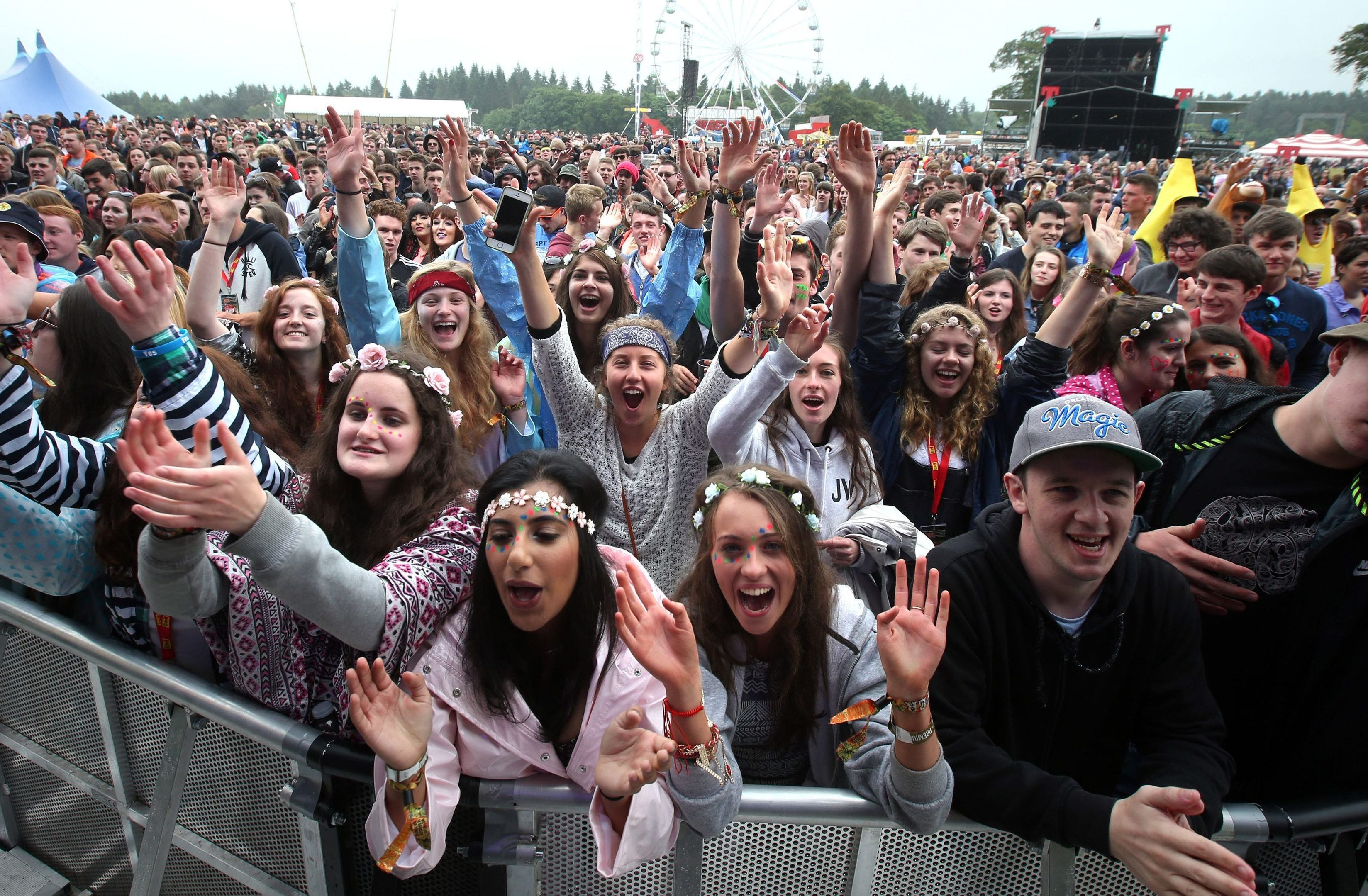 Scenes not to be repeated? Music fans at the main stage at the T in the park music Festival at Strathallan.