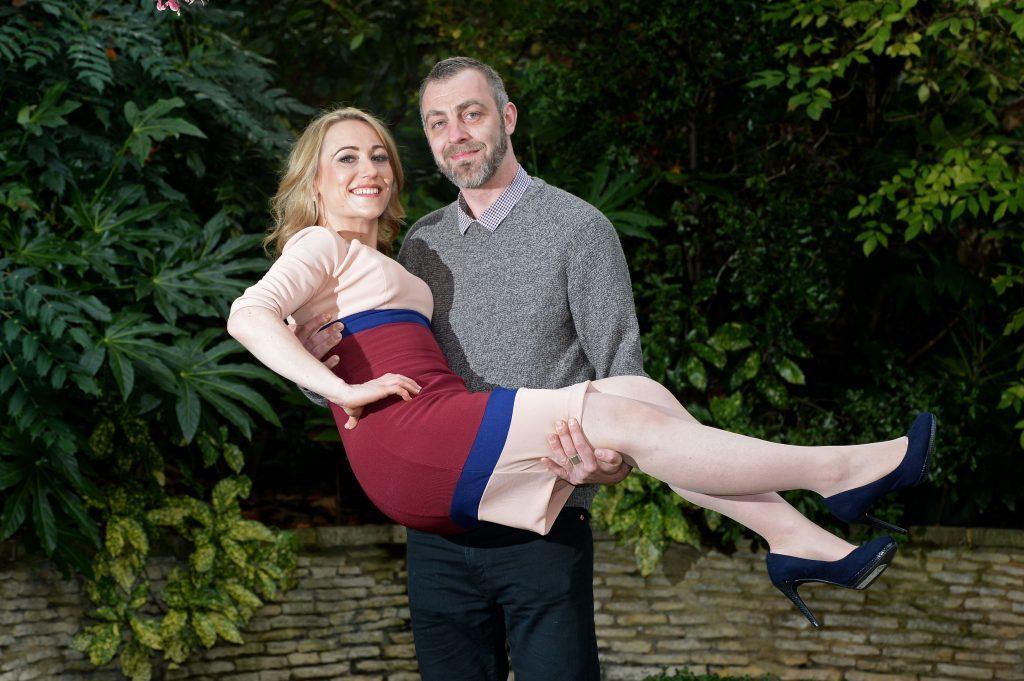 Hollie with her partner Tom Baker.