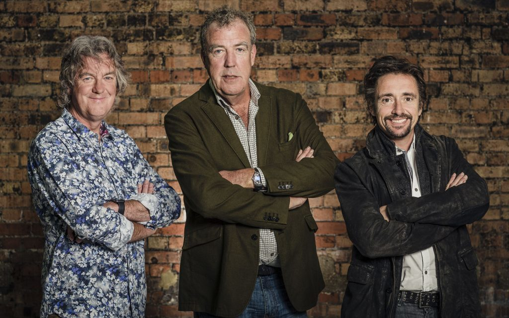 James May, Jeremy Clarkson and Richard Hammond during filming of The Grand Tour