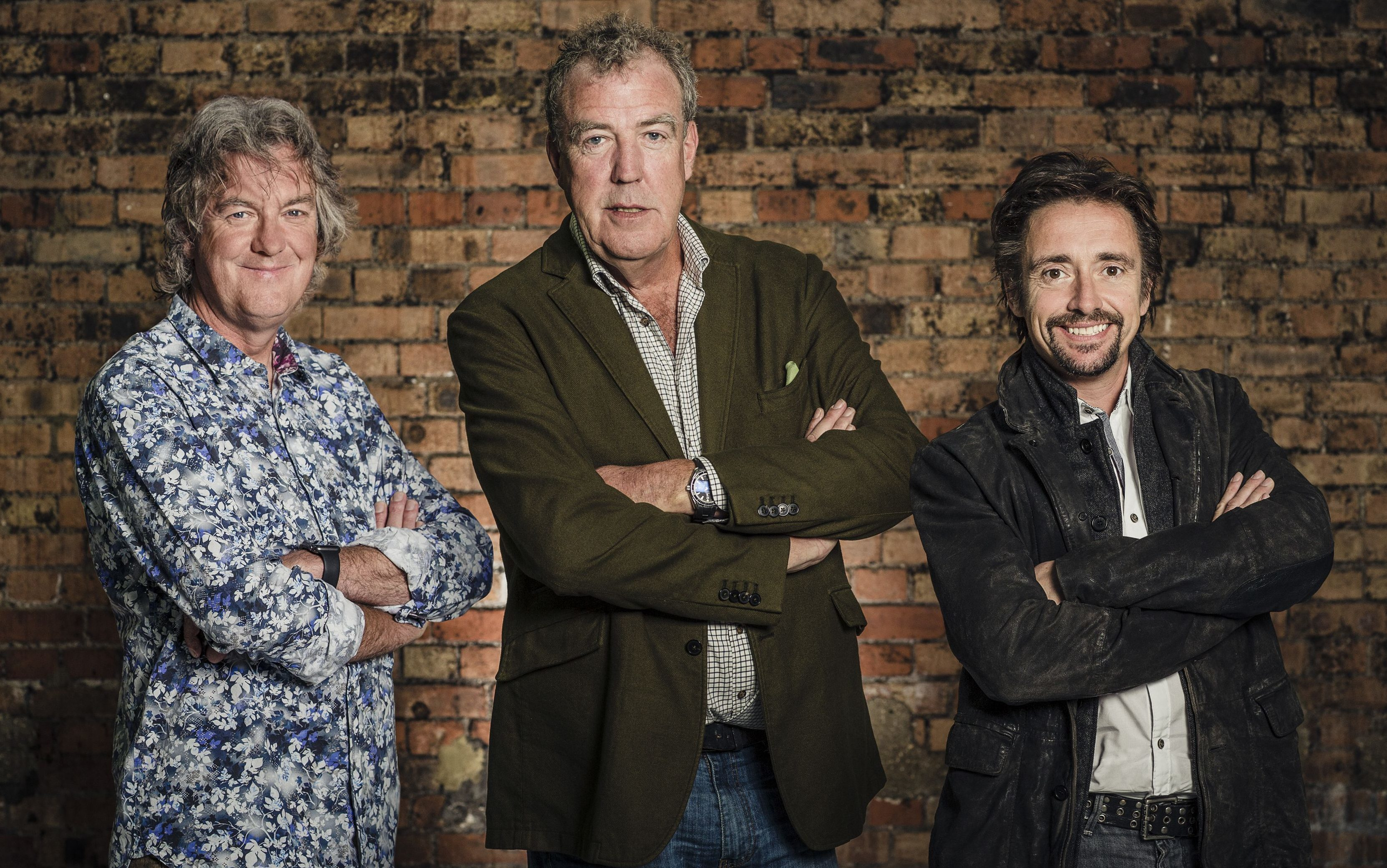 James May, Jeremy Clarkson and Richard Hammond during filming of The Grand Tour.