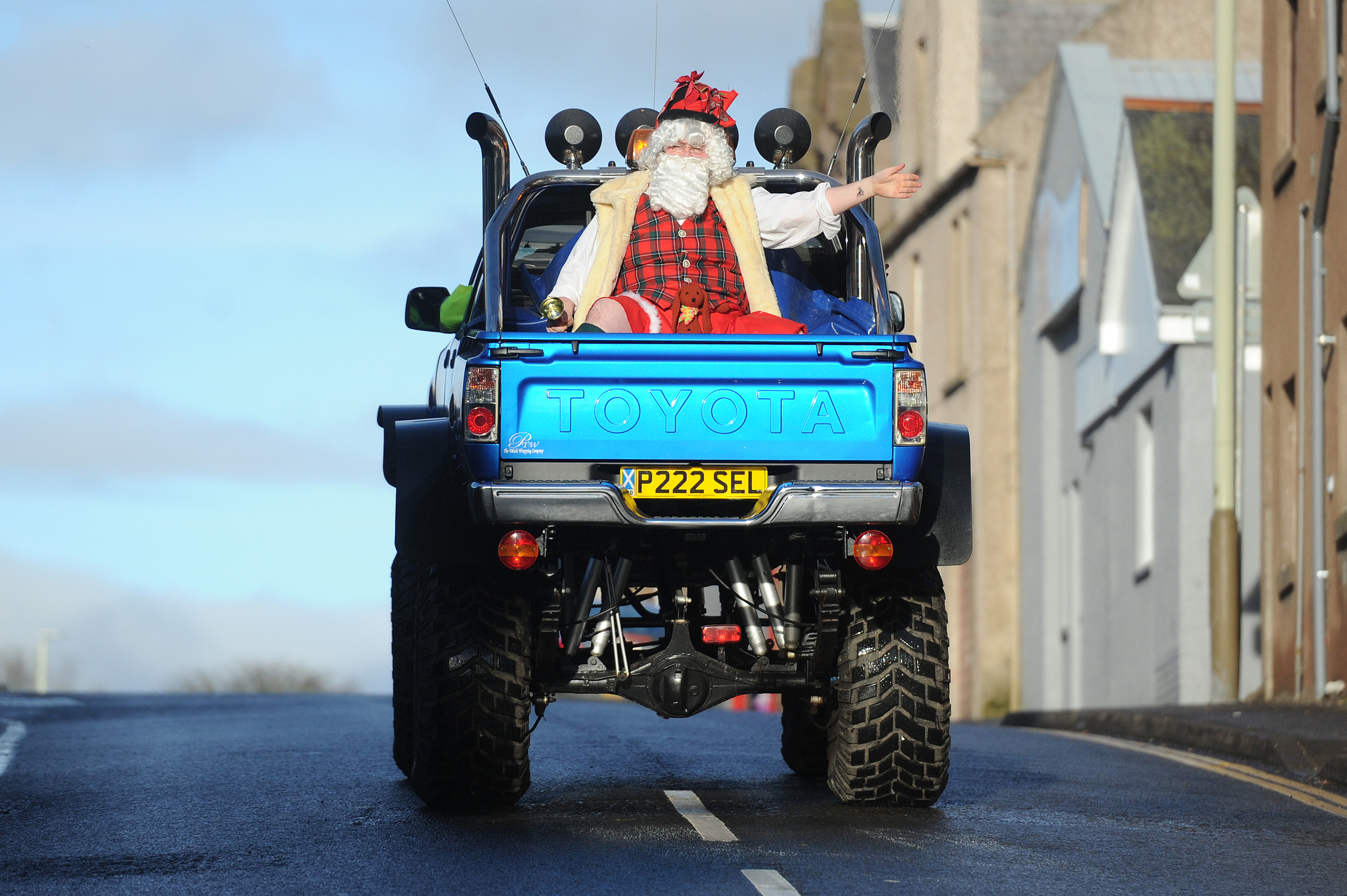 Santa arrived in style at the 2016 Brechin event