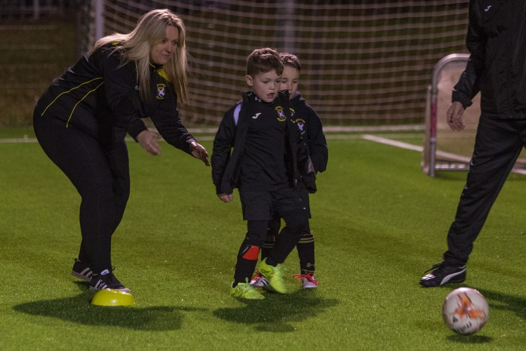 East Fife Youth Academy run by Lorna McAuley training at Windmill Campus in Kirkcaldy