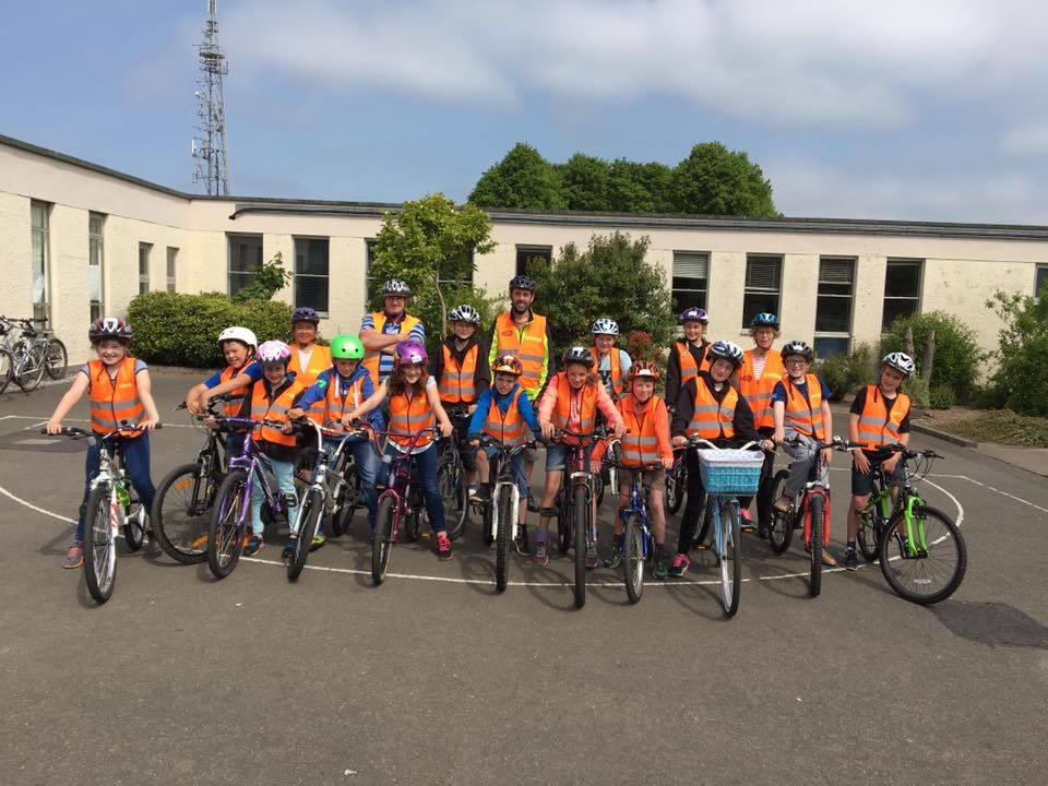 Bikeability participants at Castlehill Primary School in Cupar, Fife