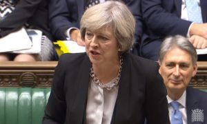 Prime Minister Theresa May speaks during Prime Minister's Questions in the House of Commons, London. PRESS ASSOCIATION Photo. Picture date: Wednesday November 16, 2016. See PA story POLITICS PMQs May. Photo credit should read: PA Wire