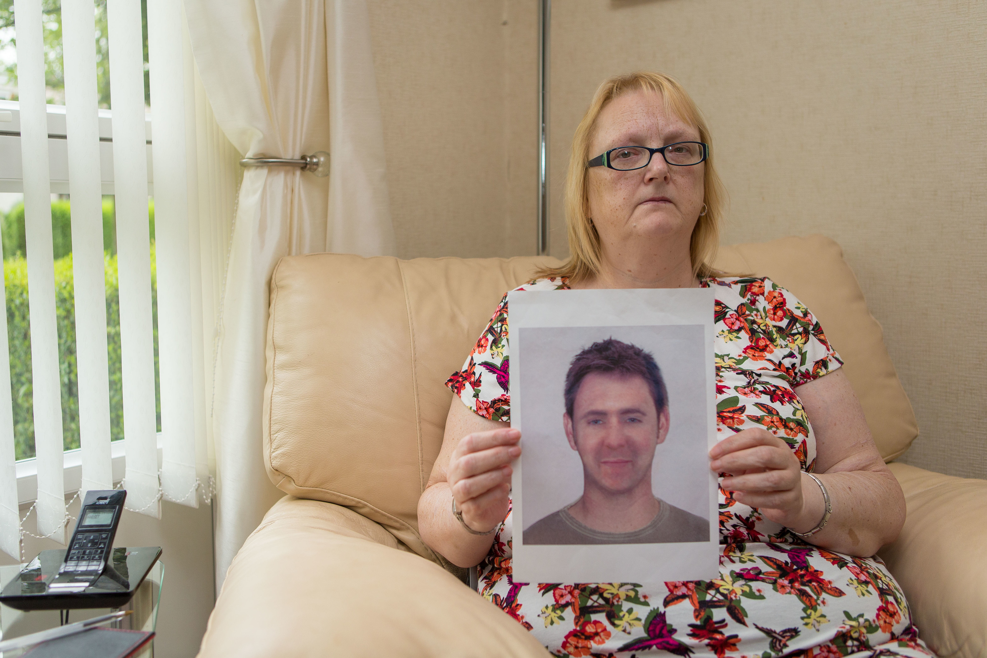 Missing person Kenneth Jones is shown in a Police E-Fit held by his long suffering mother MaryAnne Jones.