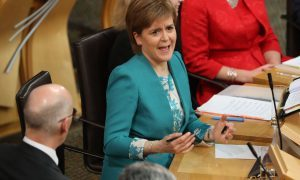 First Minister Nicola Sturgeon speaking during First Minister's Questions at the Scottish Parliament in Edinburgh. PRESS ASSOCIATION Photo. Picture date: Thursday November 17, 2016. Photo credit should read: Andrew Milligan/PA Wire