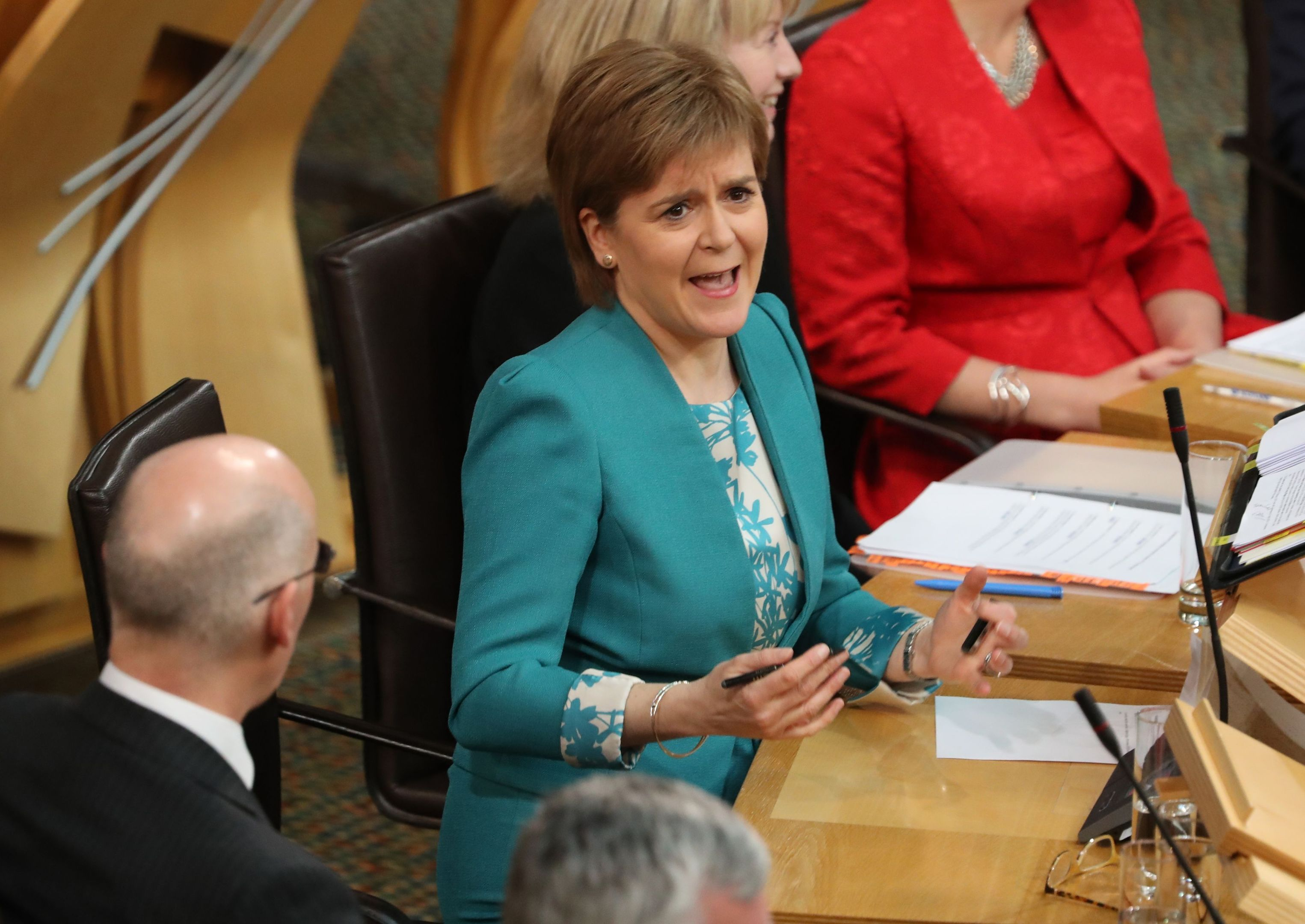 First Minister Nicola Sturgeon speaking during First Minister's Questions.