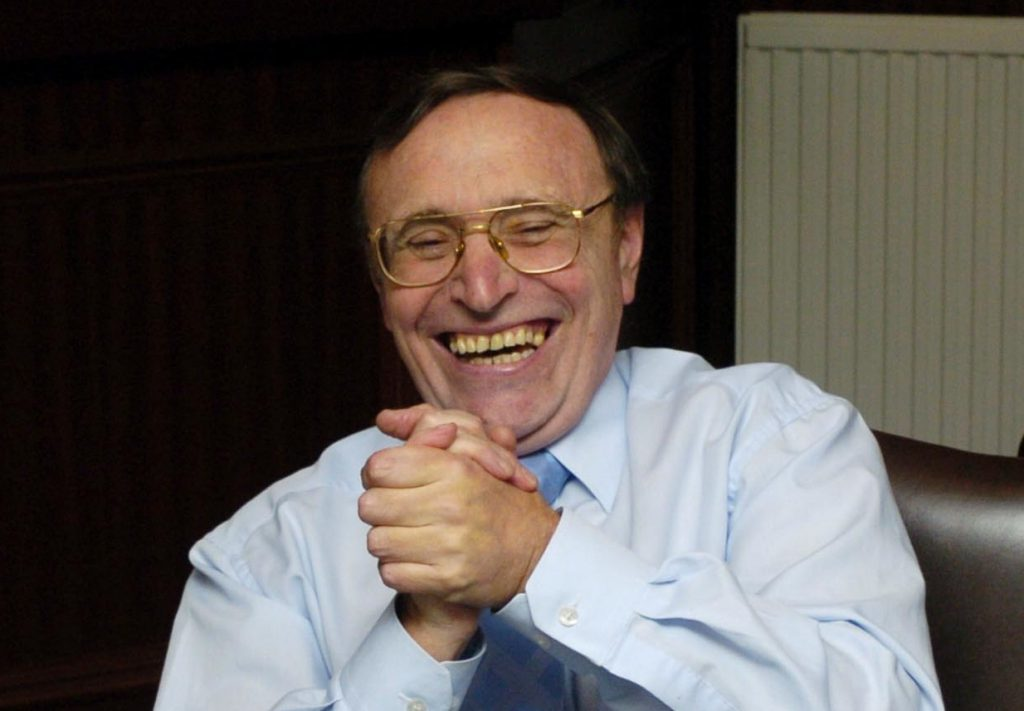 The late Dundee United chairman Eddie Thompson