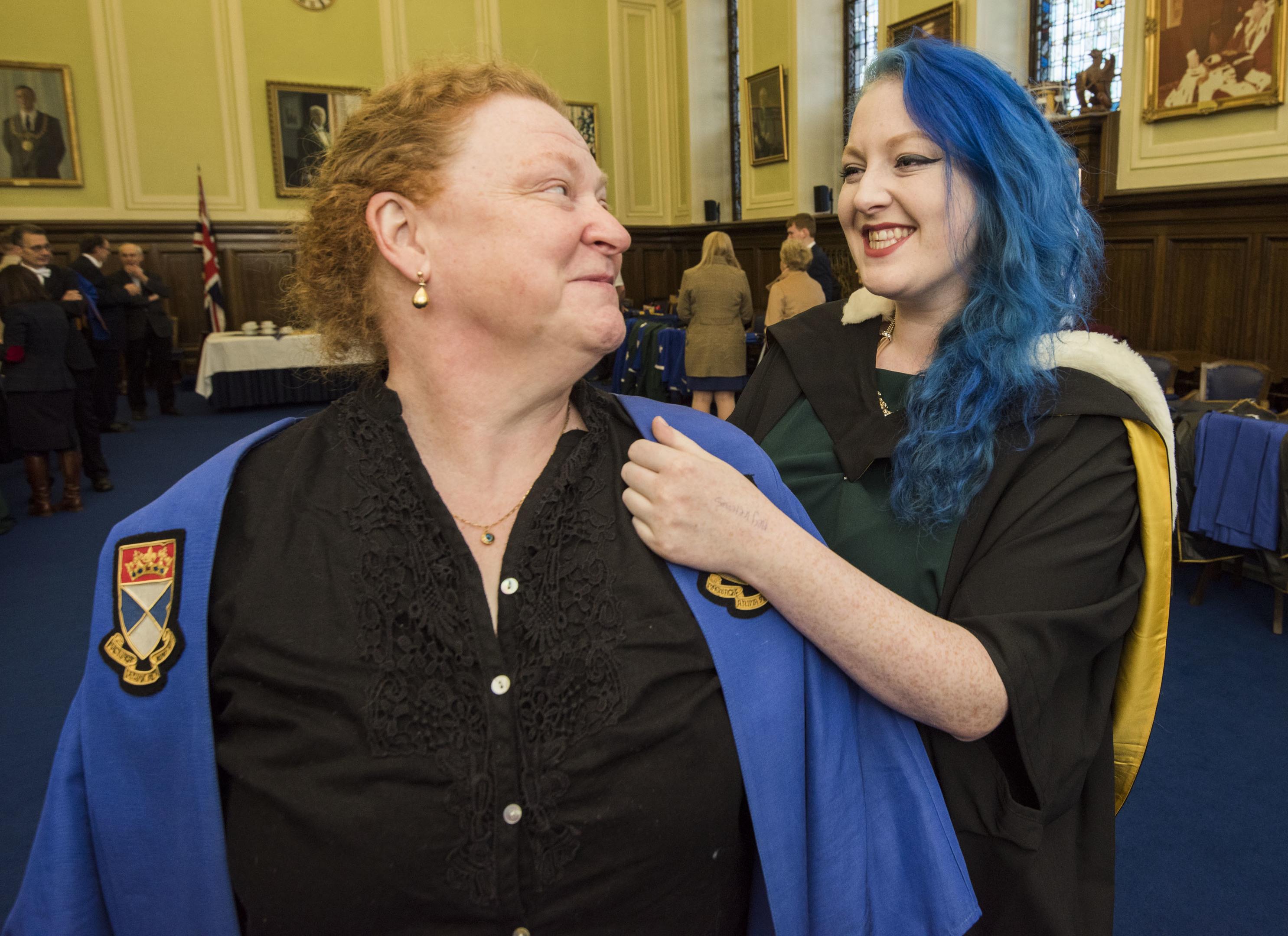 Grace helps her mother, Professor Sue Black