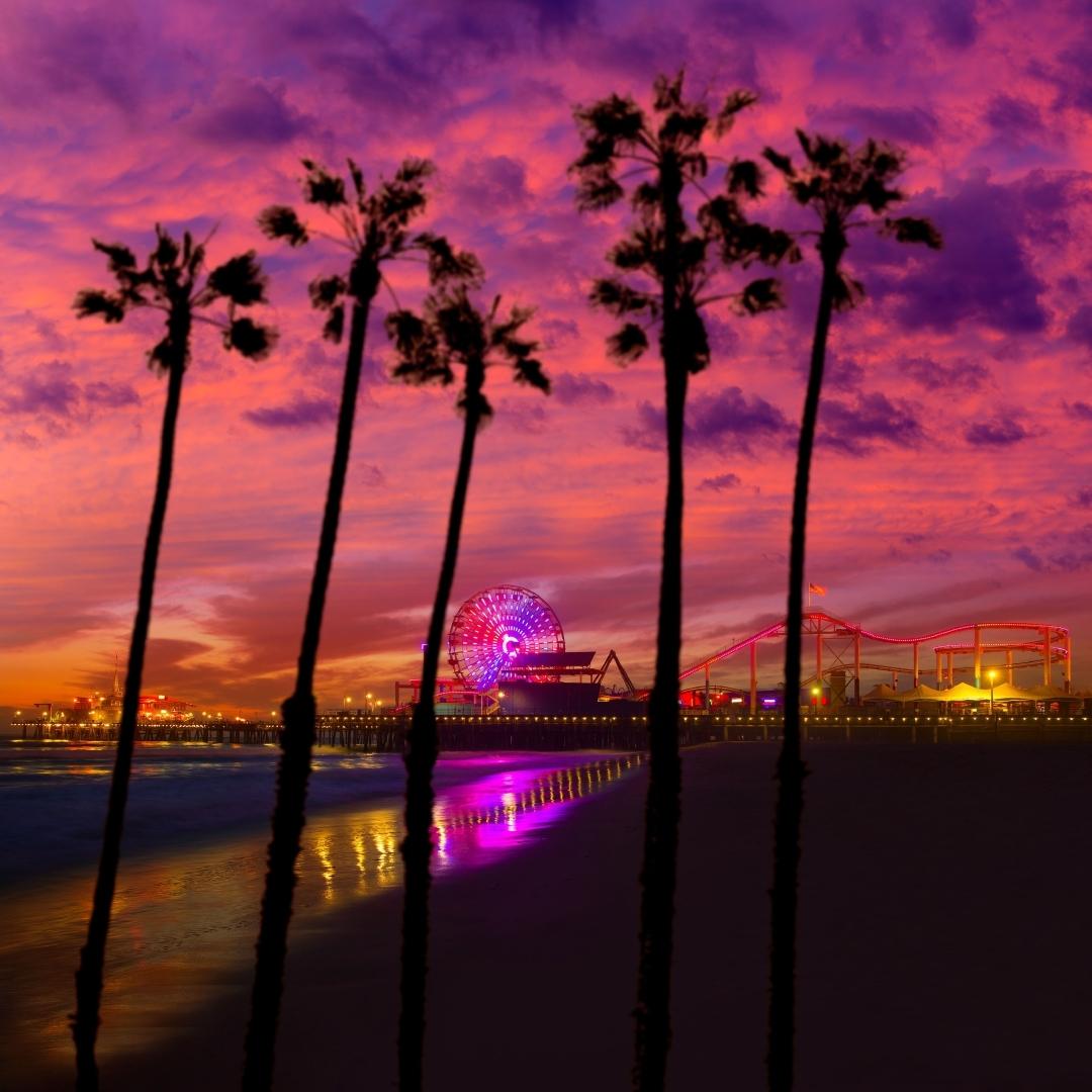 Santa Monica California sunset.