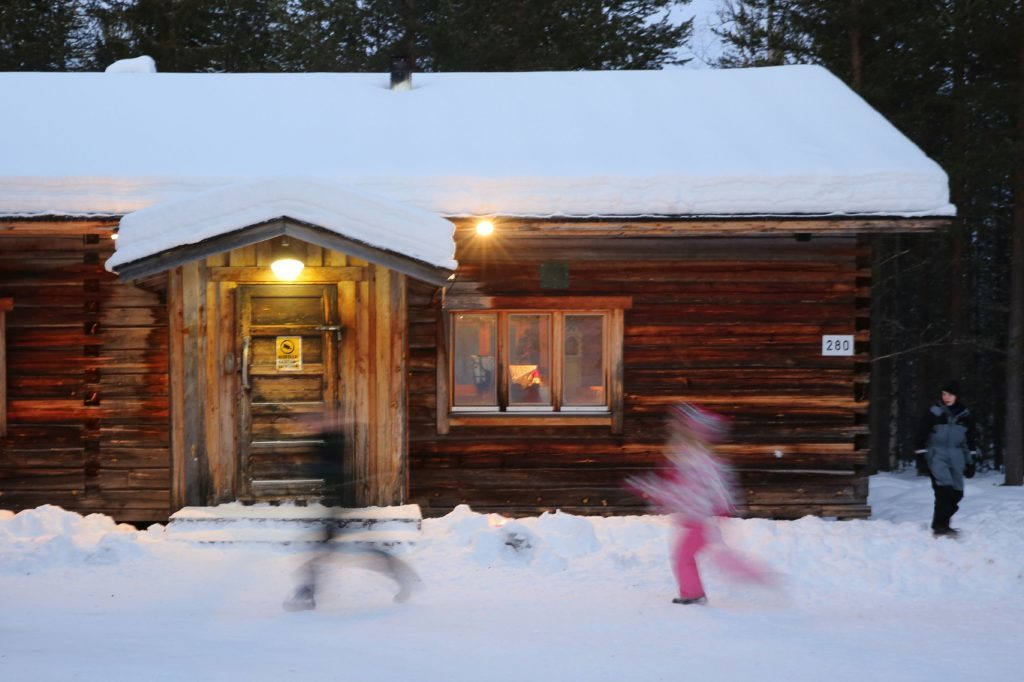 One of the log cabins at Luosto.