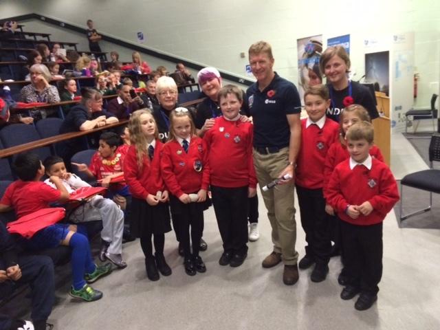The pupils meet Tim Peake