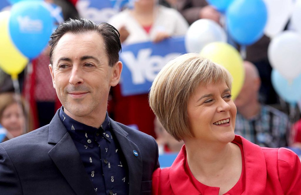 Alan with Nicola Sturgeon.