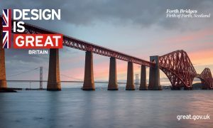 The image the Foreign Office used to hail the Queensferry Crossing.