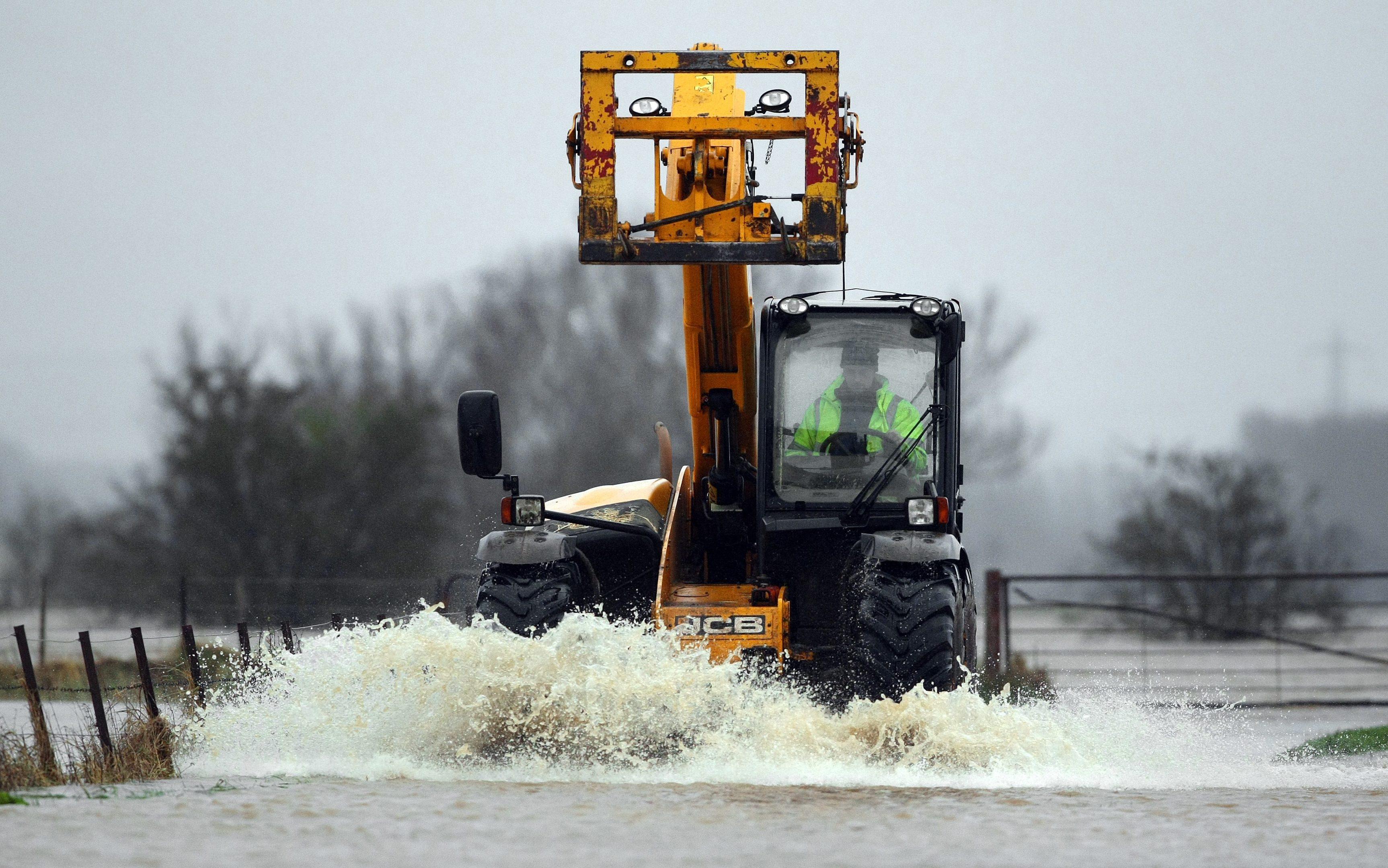 Flooding near Coupar Angus.