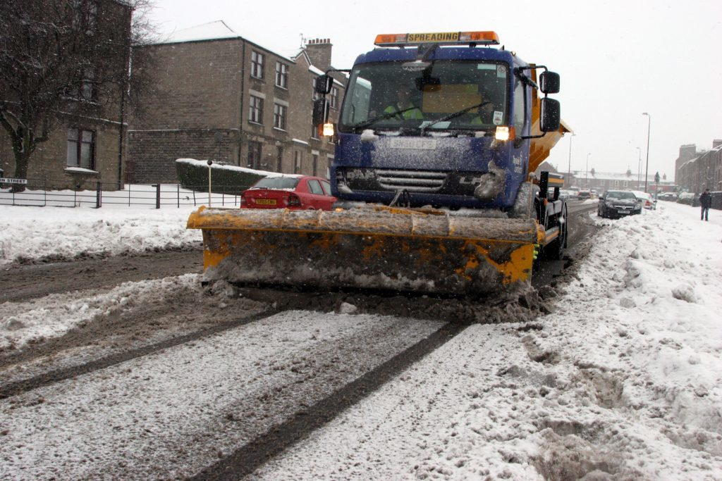 Fife, 2010. Gritters take to the roads