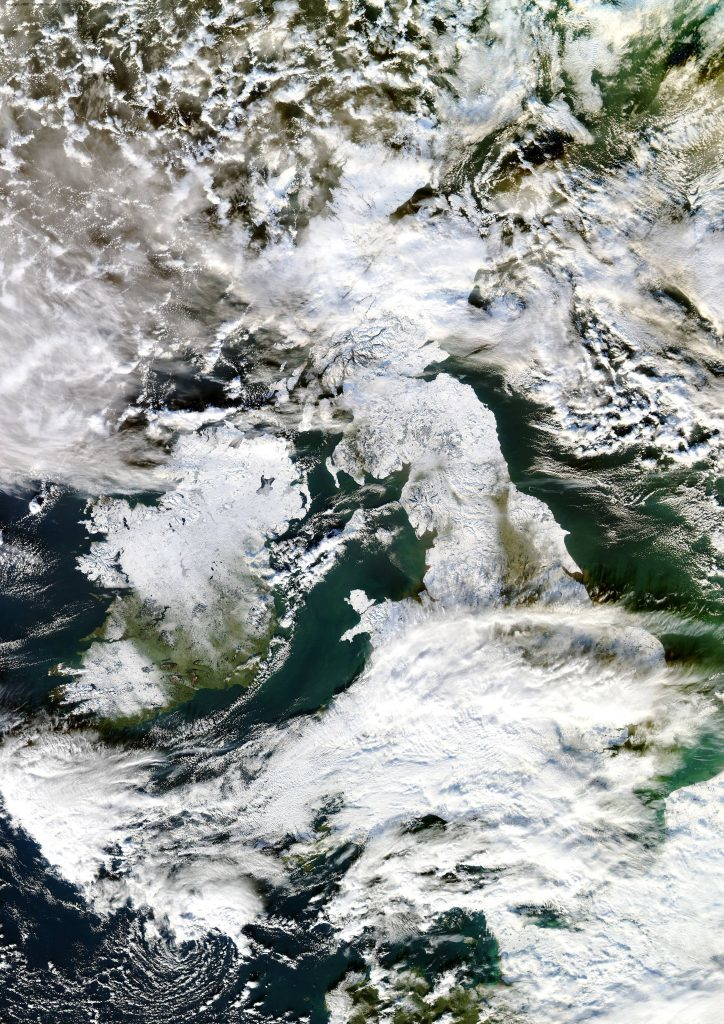 Frost sweeps over Scotland  in 2010