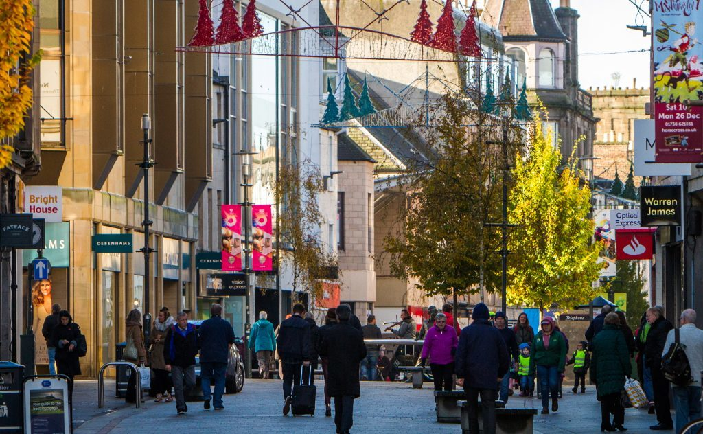 Perth High Street feeling festive