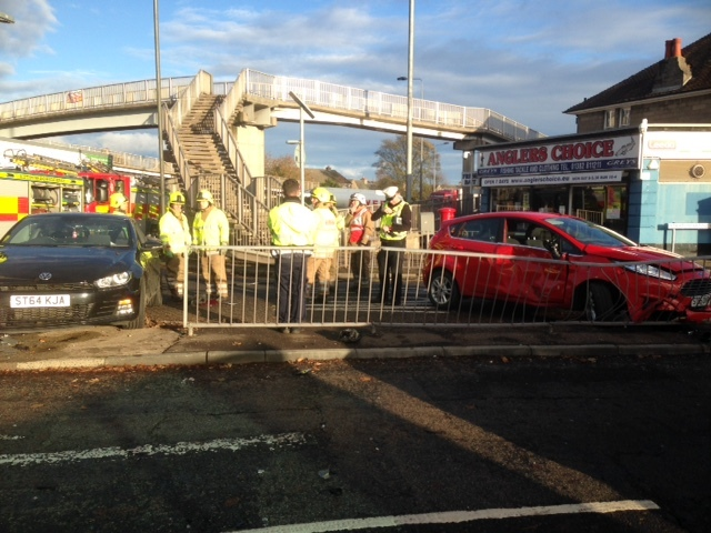 multi car crash  dundees strathmartine road roundabout  courier