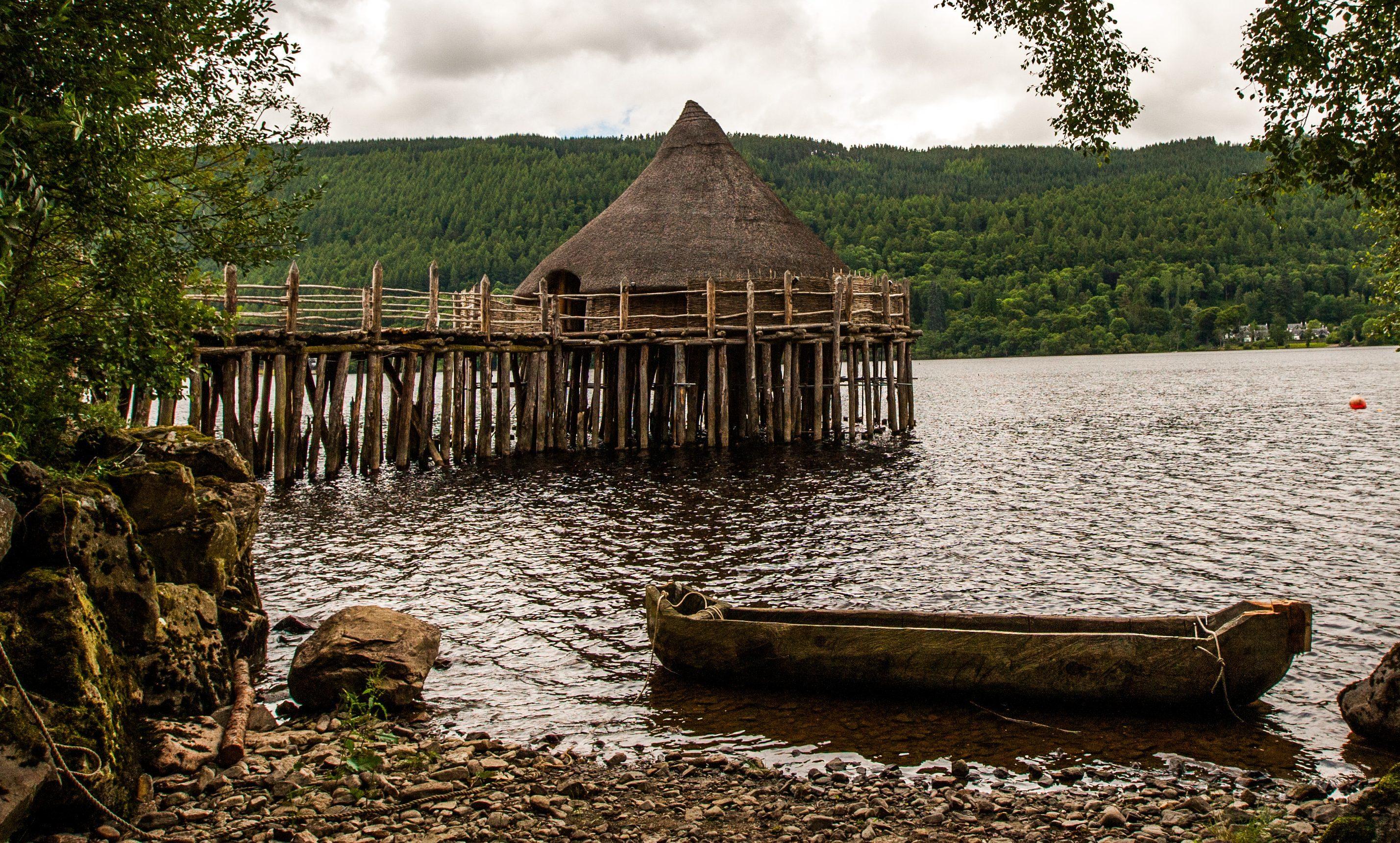 The Scottish Crannog Centre at Loch Tay.